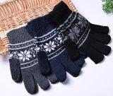 Цветастой перчатки касания жаккарда экрана касания связанные нежностью акриловые