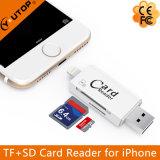 iPhone 인조 인간 USB3.0 섬광 드라이브 (YT-R008)를 위한 Microsd+SD OTG 카드 판독기