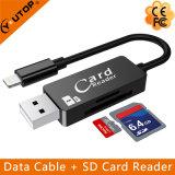 Cabo de dados + OTG Leitor de cartão SD USB Flash Drive para iPhone (YT-RC002)