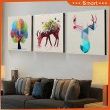 Pórtico decorativo de la pintura de los alces de la pared que pinta la pintura mural del arte del dormitorio minimalista moderno