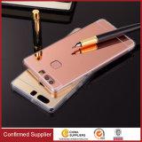 Nouveau miroir de placage de luxe TPU Silicon Frame Case pour Huawei P8 P8 Lite P9