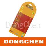 Etiqueta de encargo de alta calidad de la caída del papel del ojeteador de Kraft