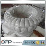 White Stone Curved Flower Pot for Garden Decoration Pot