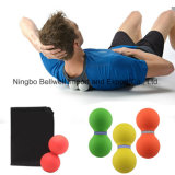 New Double Rubber Lacrosse Massage Ball Silicone Peanut Ball