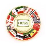 Изготовленный на заказ монетка сувенира флага объединенной нации эмали
