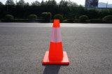 Cono riflettente basso arancione della strada del PVC di Soild per sicurezza