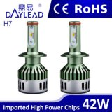 "Faro superiore dell'automobile LED del ""phillips"" 42W della lampada automatica di H7 LED"