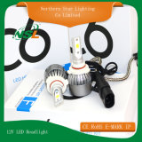 Ampoule lumineuse superbe de phare du H3 H4 H7 H11 9006 9007 DEL du jeu H1 de phare de véhicule de C6 12V DEL