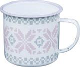 さまざまな装飾が付いている高品質のエナメルのコップかエナメルのマグ