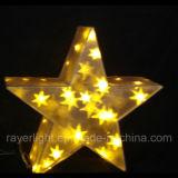 Luz de Navidad decoración acrílico LED luces de Estrellas de la caja de regalo
