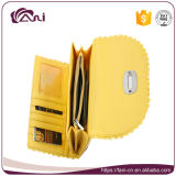 De gloednieuwe Gele Kleur van de Portefeuille van de Beurs van de Koppeling van de Envelop van het Leer