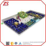 Parque de interior del juego de los niños, patio suave de interior y gimnasia del trampolín