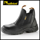 Chukka sapatos de segurança sem laço com dedo de pé de aço