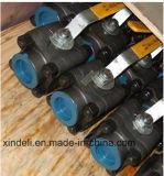 Шариковый клапан кованой стали 800lbs фабрики 3PC Китая