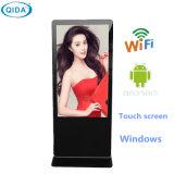 Quiosco de la pantalla táctil del autoservicio de la visualización de los multimedia del LCD