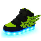 Superiores elevados iluminam acima sapatas de incandescência das sapatilhas para a venda
