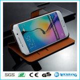 Caisse en cuir de téléphone de pochette de Geuine pour la galaxie S8 de Samsung