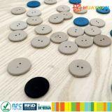Étiquette de blanchisserie d'IDENTIFICATION RF de FUDAN FM08 d'ABS d'industrie pour le système de vêtement