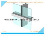 Mur rideau de bâti en verre en aluminium