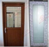 Woodgrain UPVC는 골라낸다 잎 문 화장실 문 (BHP-CD24)를