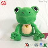 Séance de la qualité de la grenouille verte broderie en peluche yeux Cute Jouet souple