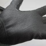 Nylon del calibro di Nmsafety 18 & guanto di funzionamento del metallo resistente sottile del taglio di Hppe & della fibra di vetro