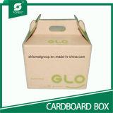Casella di carta impaccante ondulata per trasporto del regalo con le maniglie