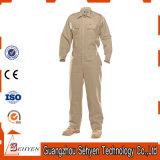 L'usine a personnalisé le coton de mode/la combinaison kaki de travail sergé de polyester
