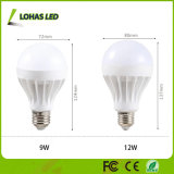 bulbo ahorro de energía de 3W 5W 7W 9W 12W 15W E27 B22 LED