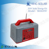 Power Bank Emergency 20W Kits de Painel Solar com Rádio