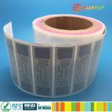 Contrassegno stampabile di frequenza ultraelevata H3 RFID dello straniero 9662 dell'adesivo G2 per gestione di patrimonio