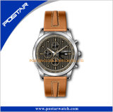 Relojes suizos superiores del cuarzo de la manera del acero inoxidable de la calidad para los hombres
