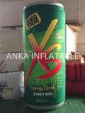 Grande bouteille de boissons énergisantes gonflables pour extérieur