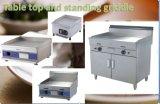 certificat électrique commercial de la CE d'acier inoxydable de Hotplate de cuisine de partie supérieure du comptoir de gauffreuse de 60cm