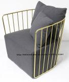 حديثة نسخة وقت فراغ قهوة فولاذ وحيدة أريكة سلك كرسي تثبيت