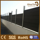 Cercado compuesto de madera del jardín del poste de aluminio del surtidor de China