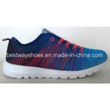 El deporte calza los zapatos de los cabritos con la parte superior de Flyknit