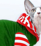 T-shirt étrange de chat de pistes