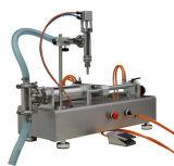 Máquina de rellenar semi automática con capsular para la línea de embalaje