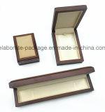 Contenitore di monili Handmade reputazione promozionale del legno duro del cuoio di tocco morbido di buona