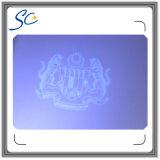 Tarjeta anti-falsificación de PVC con película de recubrimiento de holograma y microtextos