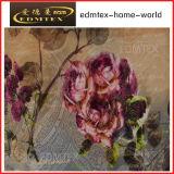 100% tessuto della tenda del velluto di stampa del tessuto lavorato a maglia poliestere (EDM0438)