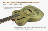 Guitarra de cobre amarillo del resonador del estilo de la carrocería O del metal de Bell de la fábrica al por mayor