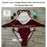 형식 여자 비키니 세트를 위한 레이스에 의하여 수확되는 바닷가 착용 수영복