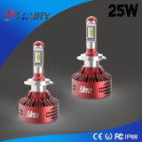 Profesional LED 25W H7 faros para camiones ligeros del coche LED