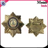 Fábrica Custom Sun Sun Star Shape Office Police Lapel Pins
