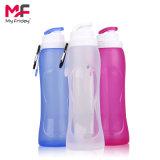BPA extérieurs libèrent l'eau pliable de sports de silicones compressibles portatifs