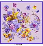 女性の方法デジタルによって印刷される絹のスカーフをカスタマイズしなさい