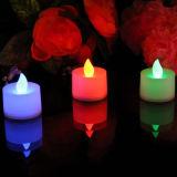 Украшения проблескивая Blinky празднества освещают белую свечку света чая СИД