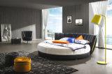 침실을%s 현대 우아한 디자인 진짜 가죽 침대 (HC325)